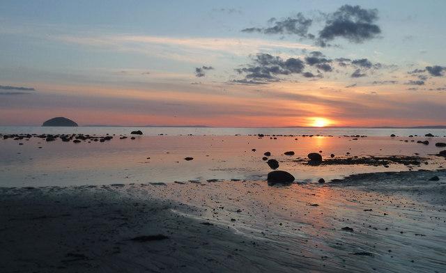 The beach at Girvan